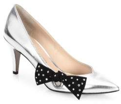 Marc Jacobs Daryl Leather Pointy Toe Pumps