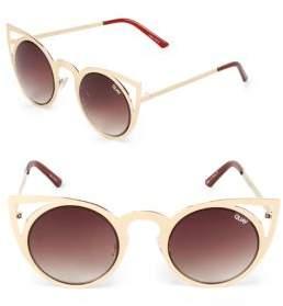 Quay 48MM Cat Eye Sunglasses