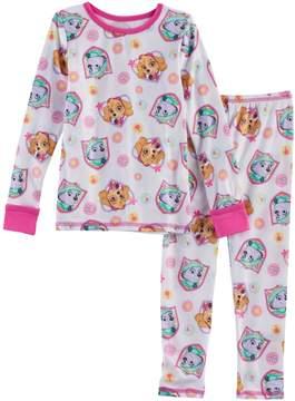 Cuddl Duds Toddler Girl 2-pc. Paw Patrol Skye & Everest Base Layer Top & Pants Set