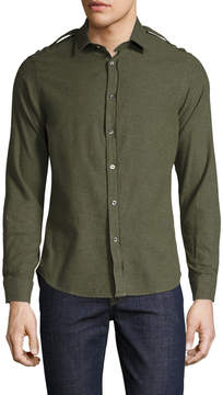Commune De Paris Men's Malapert Italian Twill Cotton Sportshirt