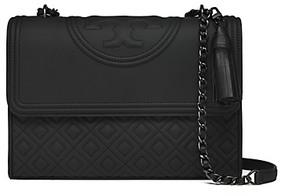 Tory Burch Fleming Matte Convertible Shoulder Bag - BLACK - STYLE