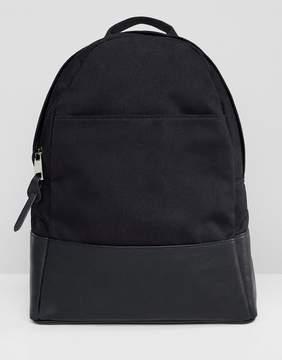 Asos DESIGN large canvas backpack