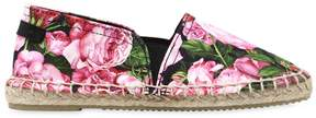 Dolce & Gabbana Rose Printed Cotton Canvas Espadrilles