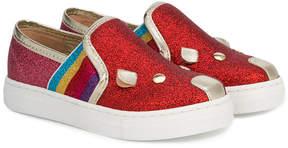 Little Marc Jacobs slip-on glitter sneakers