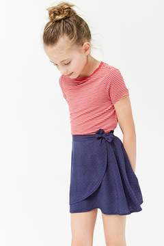 Forever 21 Girls Polka Dot Wrap-Front Skirt (Kids)