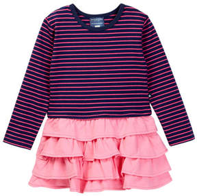 Toobydoo Striped Top Ruffle Bottom Dress (Toddler, Little Girls, & Big Girls)