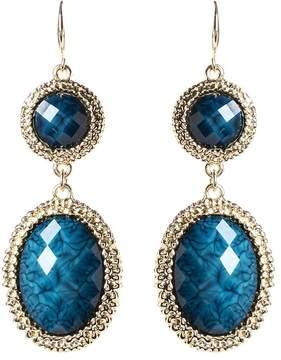 Amrita Singh Blue & Goldtone Gabby Drop Earrings
