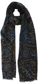 Etro Men's Multicolor Wool Scarf.