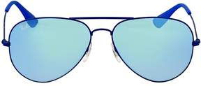 Ray-Ban Blue Gradient Flash Aviator Sunglasses