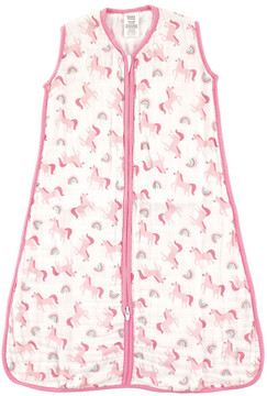 Luvable Friends Pink Rainbow Sleeping Bag - Newborn & Infant