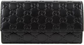 Gucci Signature Continental Wallet - BLACK - STYLE