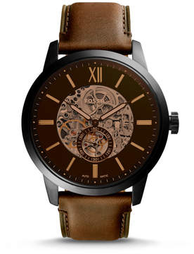 Fossil Townsman 48mm Automatic Brown Leather Watch