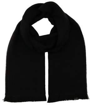 Versace It00638 Nero Black 100% Wool Mens Scarf.