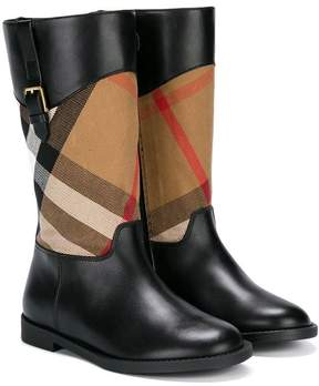 Burberry House Check boots