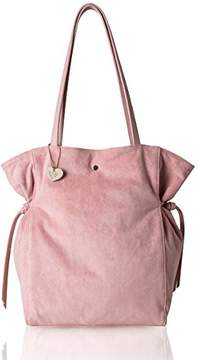 Co The Lovely Tote Women's Strap Suede Bag Side Ties Top Handle Tote (