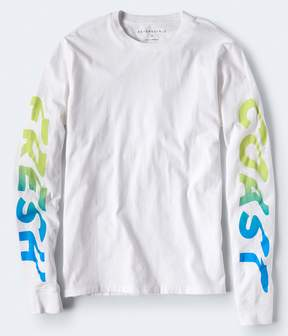 Aeropostale Long Sleeve Fresh Coast Graphic Tee