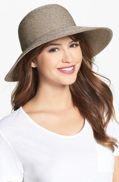 Eric Javits Women's 'Squishee Iv' Wide Brim Hat - Brown