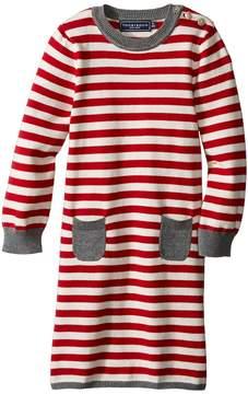 Toobydoo Little Stripe Sweater Dress (Infant/Toddler)