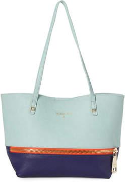 Patrizia Pepe Pure Water & Blue Color Block Shoulder Bag