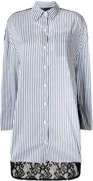 Pinko lace back striped shirt dress
