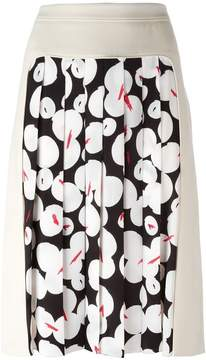 Jil Sander Navy pleated panel skirt