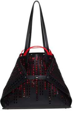 Akris Ai Geta Bratescu Medium Laser-Cut Leather Shoulder Bag