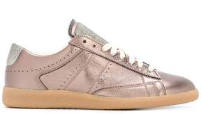 Maison Margiela metallic low-top sneakers