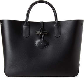 Longchamp Black Roseau Small Leather Tote