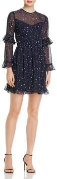 Aqua Ruffled Star Print Dress - 100% Exclusive