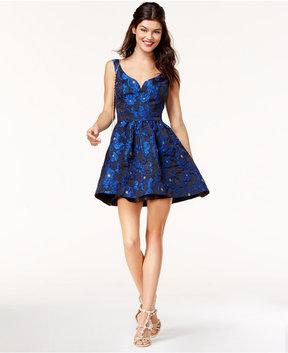 B. Darlin Juniors' Brocade Fit & Flare Dress