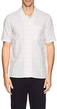 N. Max 'n Chester MAX 'N CHESTER MEN'S MICHAEL STRIPED COTTON-LINEN SHIRT