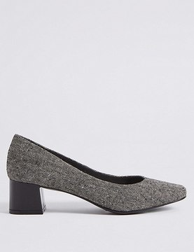 Marks and Spencer Block Heel Court Shoes