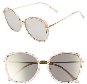 Gentle Monster Women's Switch Back 58Mm Rounded Sunglasses - Marble Mirror