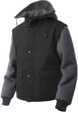 JCPenney Tough Duck Work Jacket w/Zip-Off Sleeves-Big & Tall