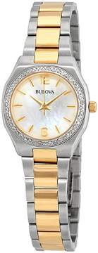Bulova Diamond Gallery White Mother of Pearl Dial Ladies Watch