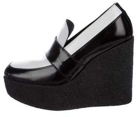 Celine Leather Platform Loafers