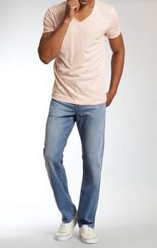 Mavi Jeans Myles Straight Leg In Mid Blue Portland