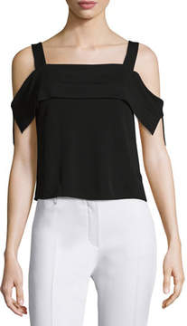 Ella Moss Thabo Cold-Shoulder Top, Black