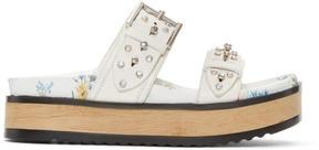 Alexander McQueen White Studded Slide Sandals