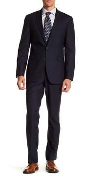 Kenneth Cole Reaction Subtle Houndstooth Two Button Notch Lapel Suit