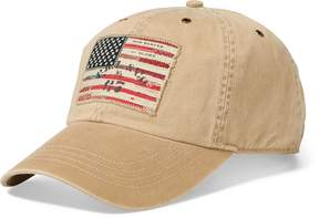 Ralph Lauren Flag Patch Chino Baseball Cap