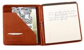 Royce Leather Unisex Deluxe Writing Padfolio 744-5.