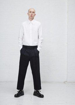 Marni Blue Navy Tapered Twill Trouser