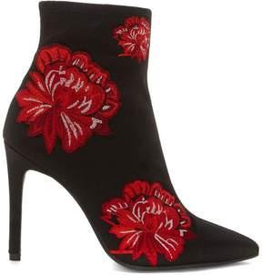 Jessica Simpson Pelanna Embroidered Fabric Bootie