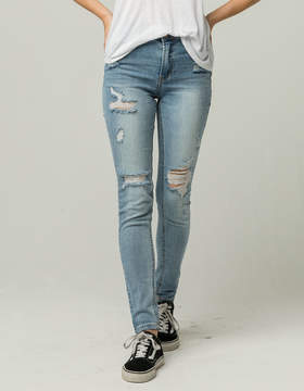 Almost Famous Premium High Rise Ripped Womens Jeans
