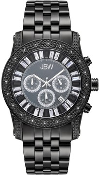 JBW Krypton Chronograph Crystal Black Dial Men's Watch