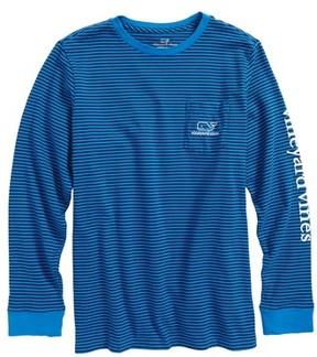 Vineyard Vines Boy's Stripe Vintage Whale Pocket T-Shirt