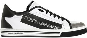 Dolce & Gabbana Logo Tape Coated Canvas Sneakers