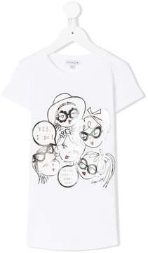 Simonetta bobby pin print T-shirt