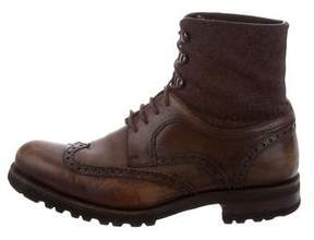 Magnanni Leather Wingtip Boots